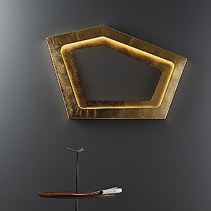 Nura LED Wall Sconce (Gold Leaf) - OPEN BOX RETURN by Carpyen