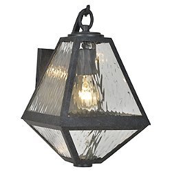 Glacier Black Charcoal Outdoor Wall Light