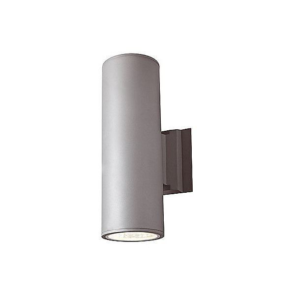 1014 4 Inch Cylinder Outdoor 2 Light Led Wall Sconce By Dals Lighting (1014-2ledra1-bk)