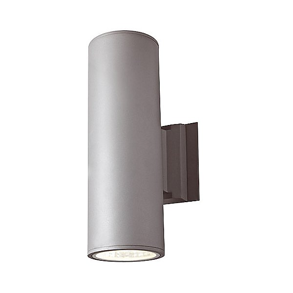 1016 6 Inch Cylinder Outdoor 2 Light Led Wall Sconce By Dals Lighting (1016-2ledra2-bk)
