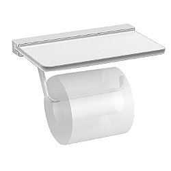 Harmoni Toilet Paper Holder with Frosted Glass Shelf