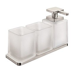 Harmoni Wall Mounted Accessory Set with Two Tumblers and Soap Dispenser
