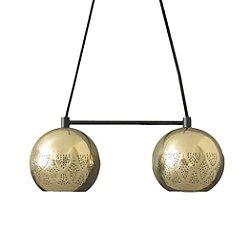 Nur Reversed Chandelier Dual Globe