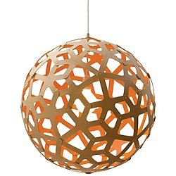 Coral Pendant (Natural and Orange/24 Inch) - OPEN BOX RETURN