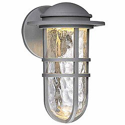 Steampunk Indoor/Outdoor Wall Sconce (Graphite/L) - OPEN BOX