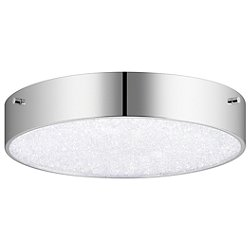 Crystal Moon LED Round Flush Mount Ceiling Light