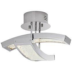Crushed Ice LED Semi-Flush Mount Ceiling Light