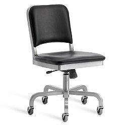 Navy Upholstered Swivel Chair