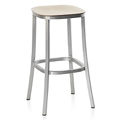 1 Inch Barstool, Wood Seat