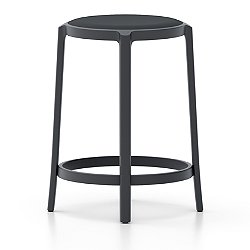 On & On Barstool with Upholstered Seat