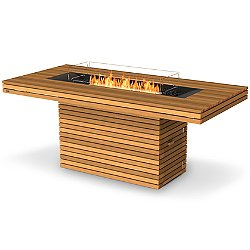 Gin 90 Bar Height Teak Fire Table