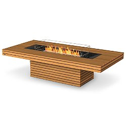 Gin 90 Chat Teak Fire Table