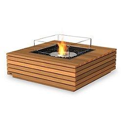 Base Teak Freestanding Fire Table