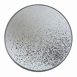 Clear Light Aged Round Wall Mirror