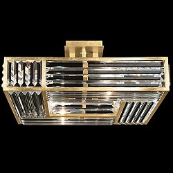 Crystal Enchantment Semi-Flush Mount Ceiling Light