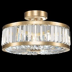Crystal Enchantment Round Semi-Flush Mount Ceiling Light