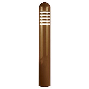 Copper Flat Panel LED Bollard by Focus Industries