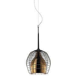 Cage Suspension Lamp (Bronze with Brown/Small) - OPEN BOX RETURN