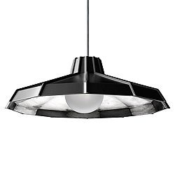 Mysterio Pendant Light (Black & Silver/400 In) - OPEN BOX RETURN