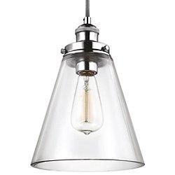 Baskin Cone Nickel Pendant Light