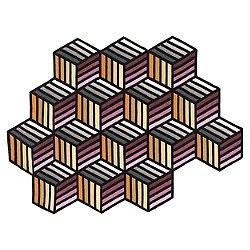 Kilim Parquet Hexagon Rug