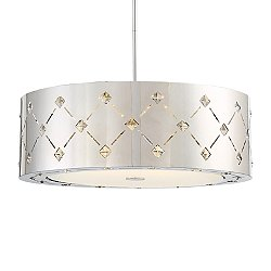 Crowned LED Drum Shade Pendant Light