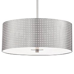 Grid Drum Pendant Light