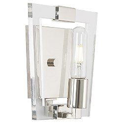 Crystal Chrome Bathroom Wall Sconce