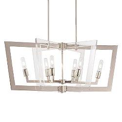 Crystal Chrome Linear Suspension Light