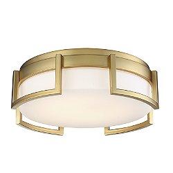 Bezel Set LED Flush Mount Ceiling Light