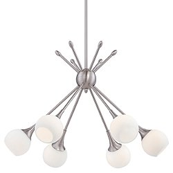 Pontil 6 Light Chandelier