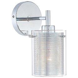 Grid II Wall Light (Chrome Mesh) - OPEN BOX RETURN
