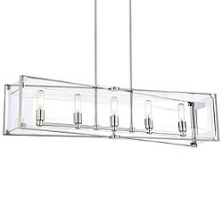 Crystal Clear Linear Suspension Light