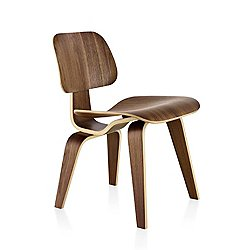 Eames Molded Plywood Dining Chair with Wood Legs