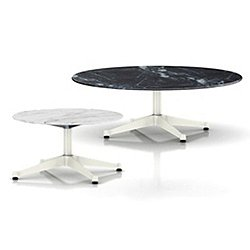 Eames Round Occasional Tables with Contract Base, Outdoor