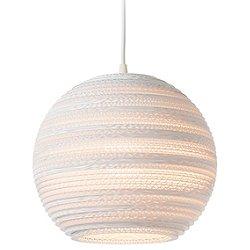 Moon White Scraplight Pendant Light