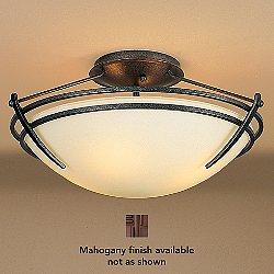 Presidio Tryne 15 inch Semi-Flush Ceiling Fixture (Opal/Mahogany/Incandescent) - OPEN BOX RETURN