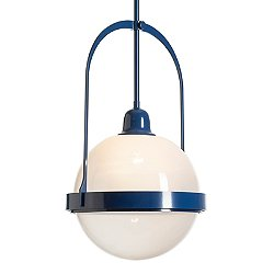 Atlas Glass Navy Pendant Lighting