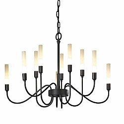 Lisse 10 Light Chandelier (Black) - OPEN BOX RETURN