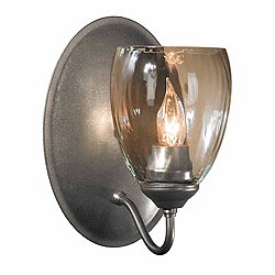 Simple Lines Single Wall Sconce (Burnished Steel) - OPEN BOX