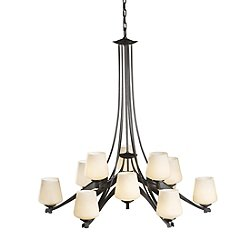 Ribbon Glass 12 Light Chandelier