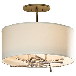 Brindille Aluminum Semi-Flush Mount Ceiling Light