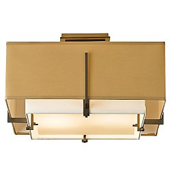 Exos Square Small Semi-Flush Mount Ceiling Light
