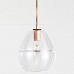 Halo Dome Pendant Light (Crystal/Copper) - OPEN BOX RETURN