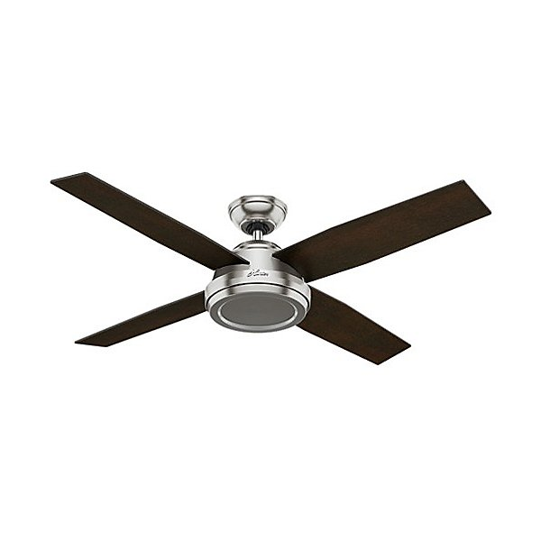 "10.1"" Dempsey Ceiling Fan By Hunter Fans - Color: Grey - Finish: Black Oak (motor) / Black Oak (blades) - (59441)"