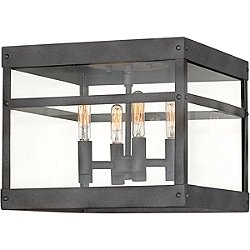 Porter Outdoor Flush Mount Ceiling Light