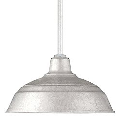 Ceiling Stem Pendant Light (14 Inch/Galvanized) - OPEN BOX RETURN