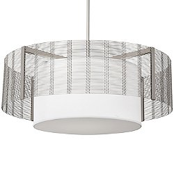 Downtown Mesh Drum Chandelier with Shade Light