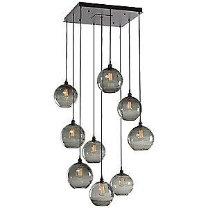Terra Square Multi Light Pendant Light by Hammerton Studio