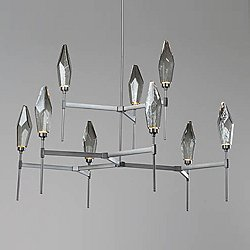 Rock Crystal LED Belvedere 2-Tier Chandelier